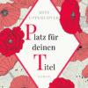 Premade Cover Raute umgeben von linear gezeichneten Rosen und Mohn - Frauenroman