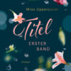 Premade Cover fallende Blumen und Wasserblasen erster Band - Roman fuer Frauen
