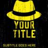 Premade Cover gelber Italo Hut Mafia Style mit grunge Oberflaeche - Krimi