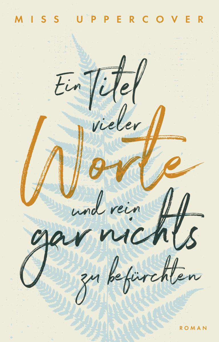Premade Cover mit Farn und Handschrift