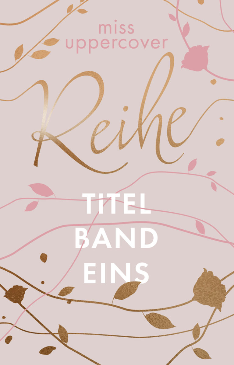 Premade Cover mit Linien in alt rosa