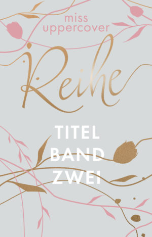 Premade Cover mit Linien in türkis
